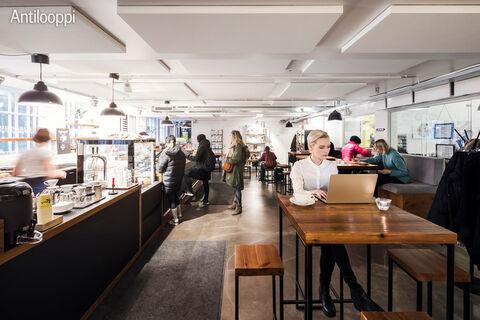 Toimitilat Helsinki   Merikortteli, Pursimiehenkatu 29-31   kahvila