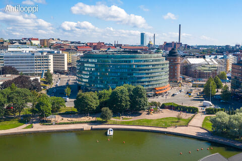 toimitilakiinteistöt Helsinki | Ympyrätalo | Siltasaarenkatu 18-20 | ilmakuva