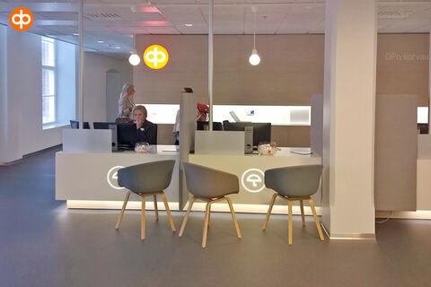 Tampereen Kelloportinkatu 1 toimitila sisältä