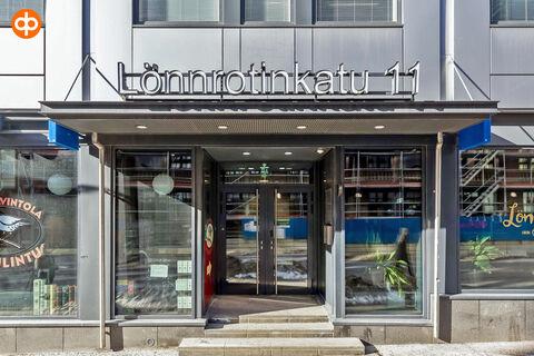 Toimitilat Helsinki | Lönnrotinkatu 11 | sisäänkäynti