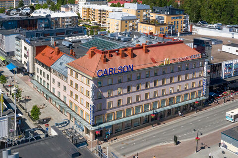 Liiketilat Kuopio | Haapaniemenkatu 22 | Tavaratalo Carlson | ilmakuva