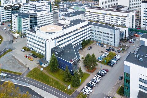 Toimitilat, Tampere | Biokatu 6, F-Medi | ilmakuva1