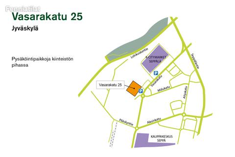 Toimitilat, Jyväskylä   Vasarakatu 25   Lähestymiskartta