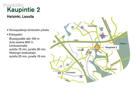 Toimitilat, Helsinki | Kaupintie 2 | Lähestymiskartta