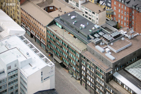 Toimitilat Helsinki | Fabianinkatu 8 | ilmakuva 1