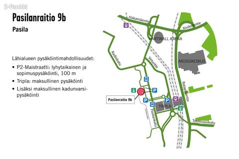 Toimitilat Helsinki | Pasilanraitio 9b | kartta