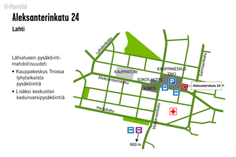 Toimitilat Lahti | Aleksanterinkatu 24 | kartta