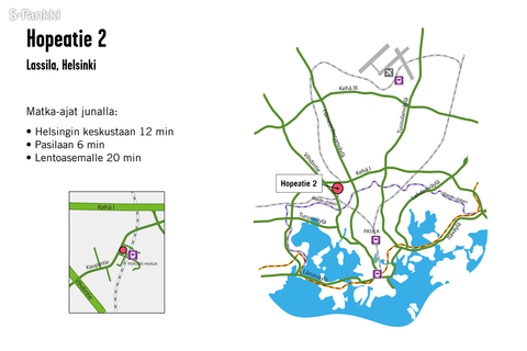 Toimitilat Helsinki | Hopeatie 2 | kartta