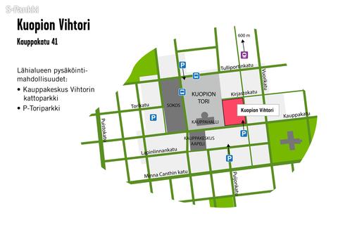 Toimitilat Kuopio | Kauppakatu 41 | Kauppakeskus Vihtori | kartta