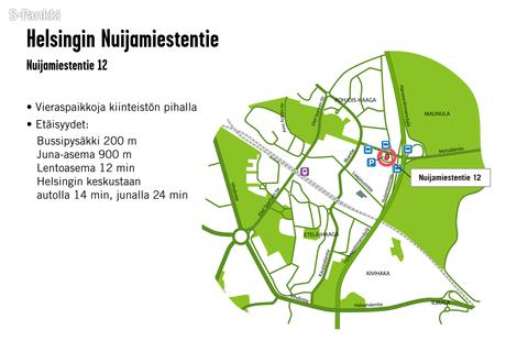 Toimitilat Helsinki | Nuijamiestentie 12 | kartta