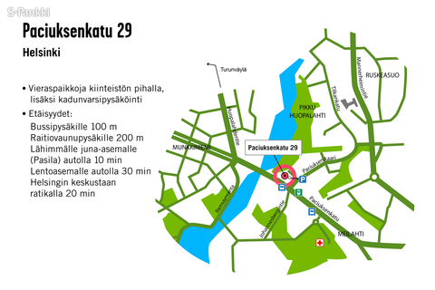 Toimitilat Helsinki   Paciuksenkatu 29   kartta