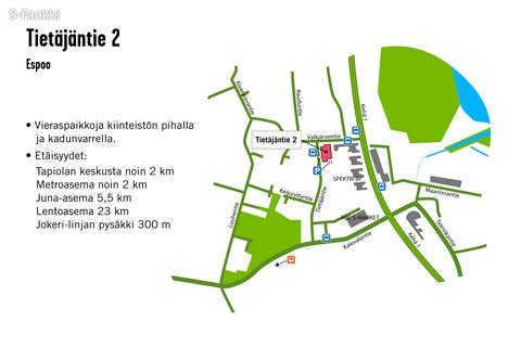 Toimitilat Espoo | Tietäjäntie 2 | kartta