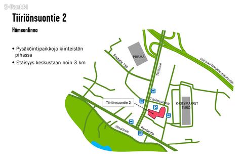 Toimitilat Hämeenlinna | Tiiriönsuontie 2 | kartta