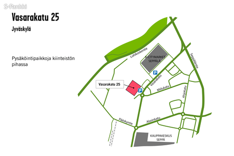 Toimitilat Jyväskylä | Vasarakatu 25 | kartta
