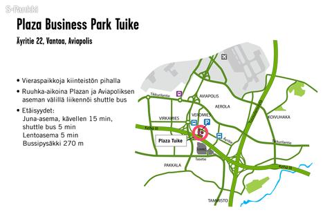 Toimitilat Vantaa | Äyritie 22 | Plaza Business Park Tuike | kartta