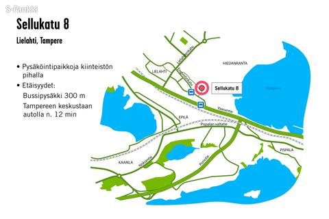 Toimitilat Tampere | Sellukatu 8 | kartta